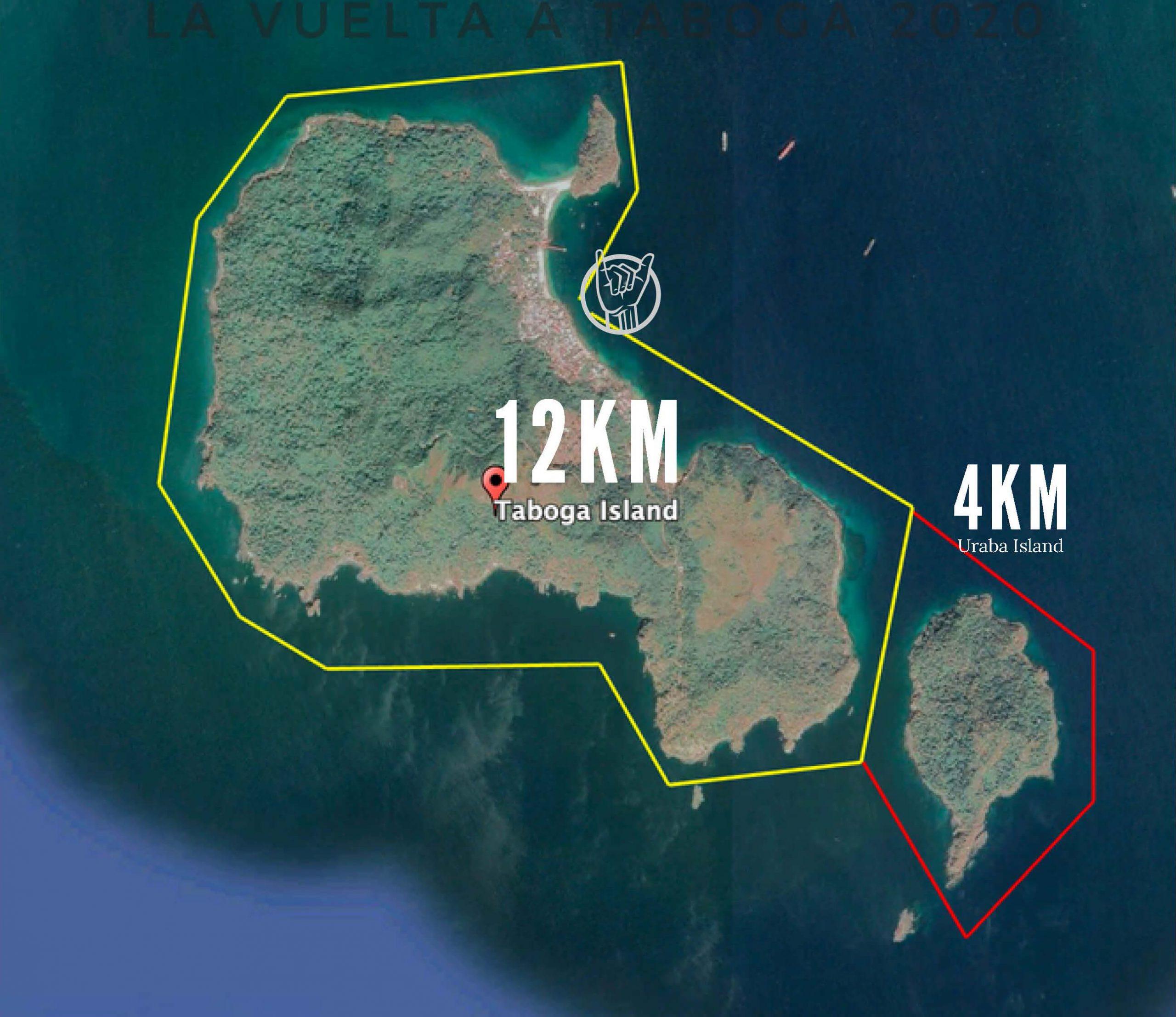 Tabogazo 2020 SUP Tour Map
